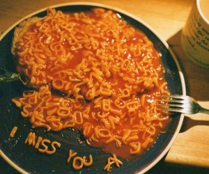 food, i miss you, and miss image