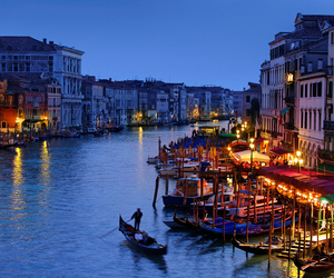 boats, canals, and italy image