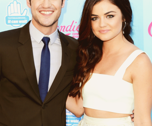 lucy hale, darren criss, and tca image