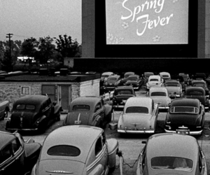 cars, drive in, and movie image