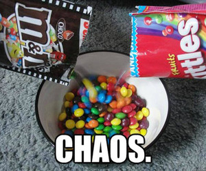 skittles, chaos, and funny image