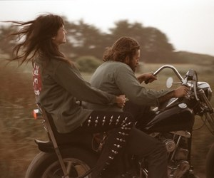 freedom, harley davidson, and on the road image