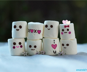cute, marshmallow, and photography image