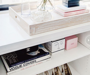 chanel, white, and interior image