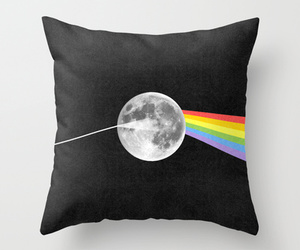 Pink Floyd, black and white, and moon image