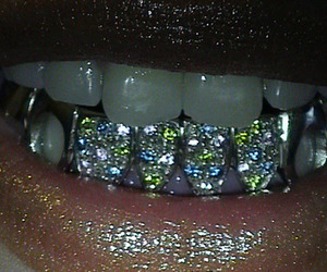 teeth and glitter image