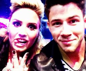 demi lovato, nick jonas, and nemi <3 image