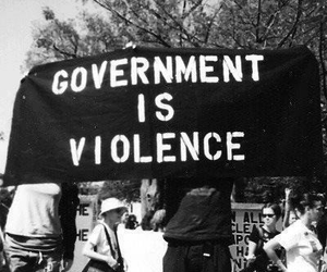government, violence, and black and white image