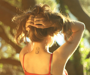 back, hair, and neck image