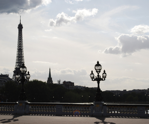 eiffel tower, sky, and nuage image