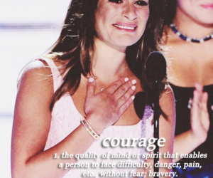 lea michele, courage, and glee image