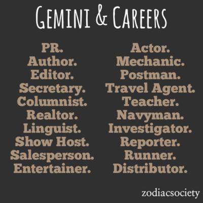 Gemini Career Horoscope