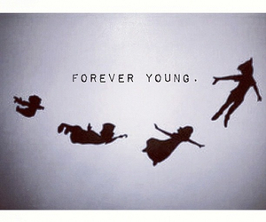 young, forever, and peter pan image