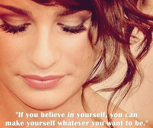 lea michele, quote, and believe image