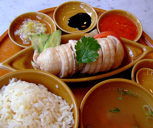 Chicken, food, and rice image
