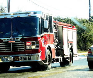 cool, fire, and firetruck image