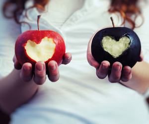 apple, black, and heart image