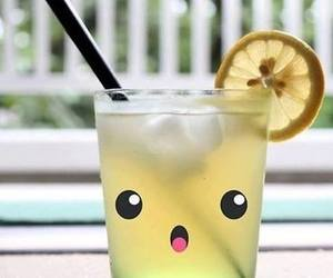 cute, drink, and lemon image