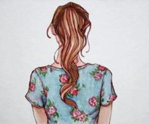 girl, hair, and ponny tail image