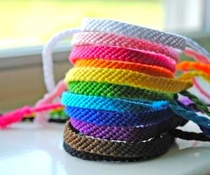 bracelet, rainbow, and colorful image