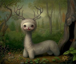 animals, imagination, and painting image