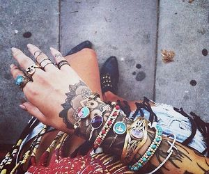 tattoo, bracelet, and nails image
