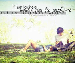 boy, girl, and quote image