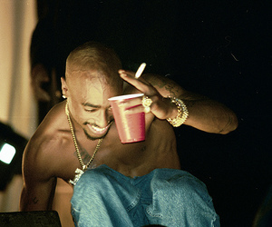 2pac, hip-hop, and 90s image