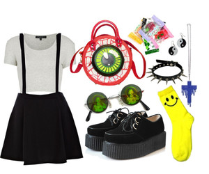 creepers, outfit, and Polyvore image