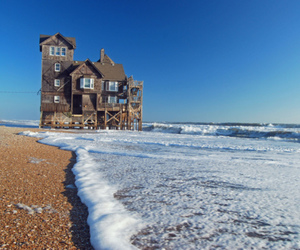 house, water, and beach image