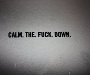 calm and text image