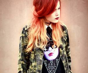 girl, fashion, and ginger image