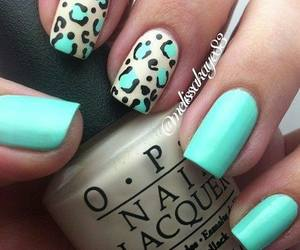 leopard, cute, and nails image