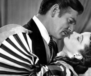 Gone with the Wind, clark gable, and kiss image