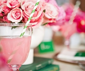 pink, drink, and rose image