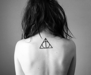 tattoo, harry potter, and black and white image