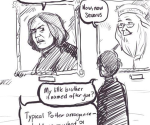 albus dumbledore, drawing, and harry potter image
