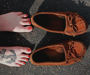 tattoo, shoes, and anchor image
