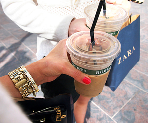 Zara, coffee, and shopping image