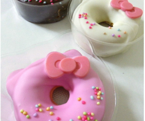 donut, food, and hello kitty image
