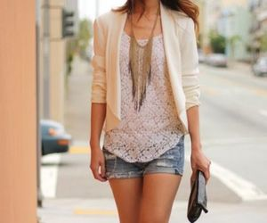 jeans, necklace, and style image
