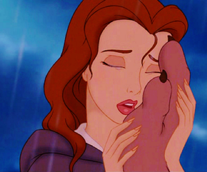 awww, beauty and the beast, and belle image