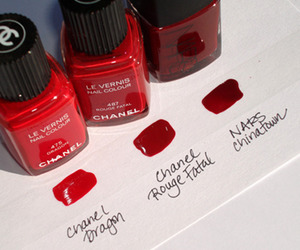 red, chanel, and nails image