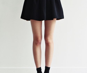 skirt, legs, and black image
