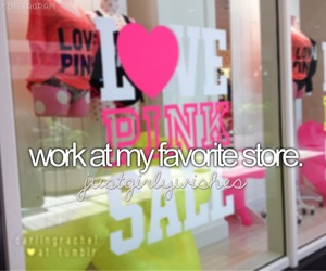 work, pink, and store image