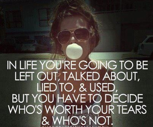 life, quote, and tears image