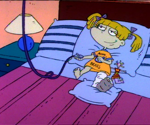 rugrats, cartoon, and bed image