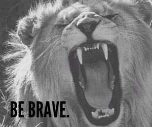 brave, lion, and be breve image