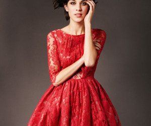 dress, red, and alexa chung image