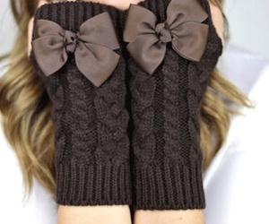gloves, bow, and brown image